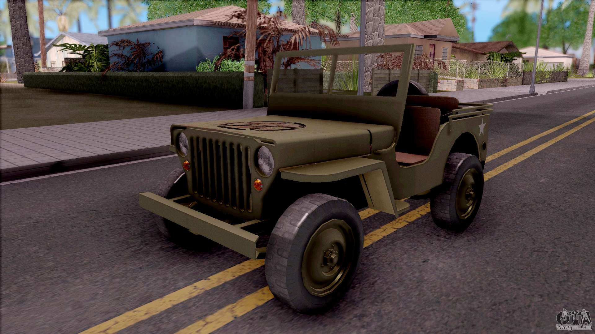 jeep willys mb military for gta san andreas. Black Bedroom Furniture Sets. Home Design Ideas
