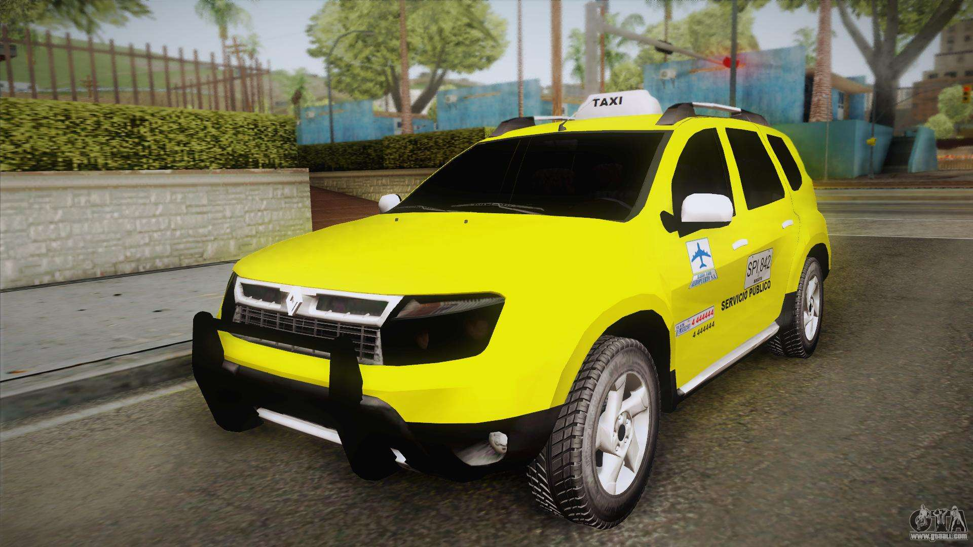 renault duster taxi for gta san andreas. Black Bedroom Furniture Sets. Home Design Ideas