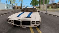Pontiac Firebird Trans Am Coupe 1969 for GTA San Andreas