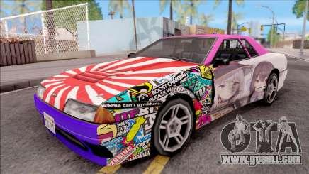 Emilia x Megumin Elegy Itasha Paintjob for GTA San Andreas
