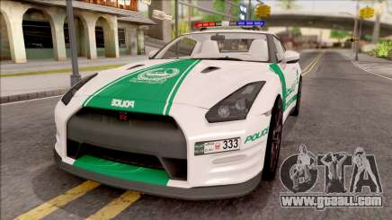Nissan GT-R R35 Dubai High Speed Police for GTA San Andreas
