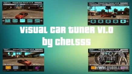 Visual Car Tuner v1.0 for GTA San Andreas