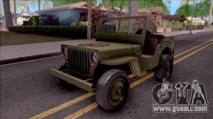 Jeep Willys MB Military for GTA San Andreas