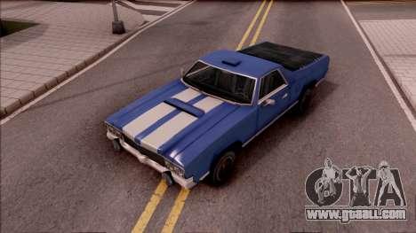 Sabre La Destino Turbo for GTA San Andreas back view