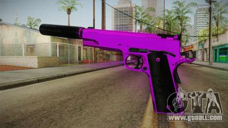 Purple Silenced Pistol for GTA San Andreas second screenshot