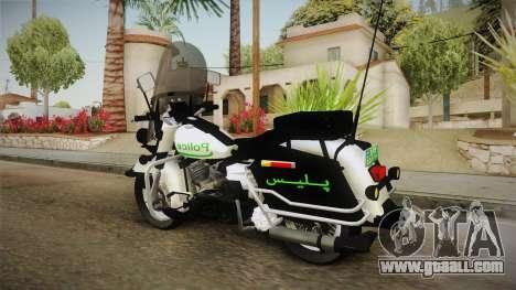 New Police Bike v1 for GTA San Andreas back left view