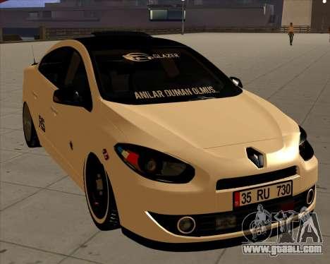 Renault Fluence for GTA San Andreas