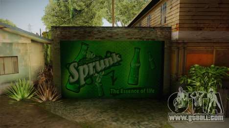 New CJ House Garage for GTA San Andreas second screenshot