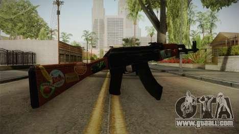 CS: GO AK-47 Jet Set Skin for GTA San Andreas second screenshot