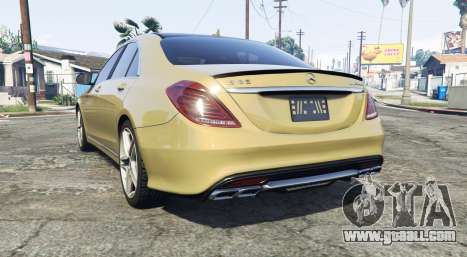GTA 5 Mercedes-Benz S63 yellow brake caliper [replace] rear left side view
