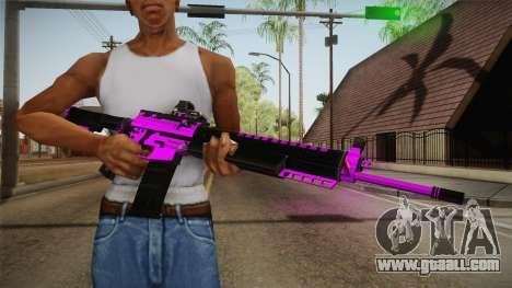 Purple M4A1 for GTA San Andreas