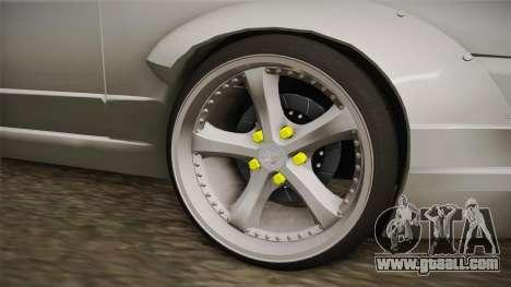 Nissan Skyline R32 Cabrio Drift Rocket Bunny v1 for GTA San Andreas back view
