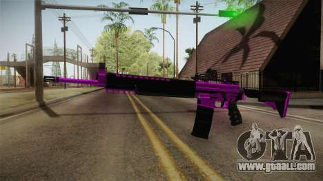 Purple M4A1 for GTA San Andreas second screenshot