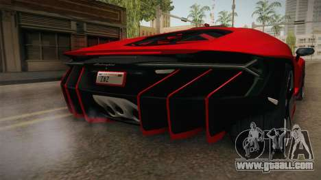 Lamborghini Centenario LP770-4 v2 for GTA San Andreas bottom view