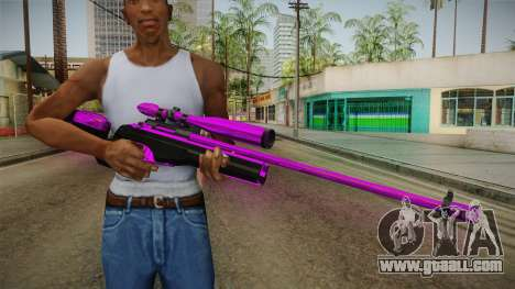 Purple Sniper Rifle for GTA San Andreas third screenshot