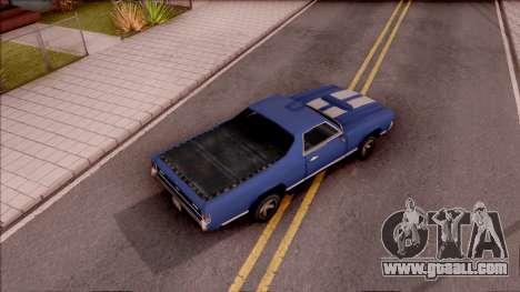 Sabre La Destino Turbo for GTA San Andreas inner view