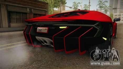Lamborghini Centenario LP770-4 v2 for GTA San Andreas interior