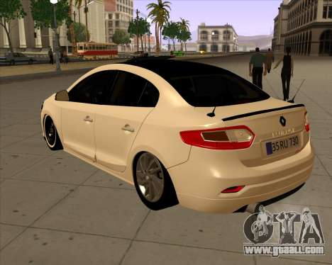Renault Fluence for GTA San Andreas left view