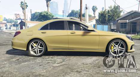 GTA 5 Mercedes-Benz S63 yellow brake caliper [replace] left side view