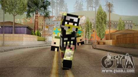 Minecraft Swat Skin for GTA San Andreas