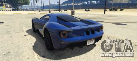 GTA 5 Ford GT 2017 left side view