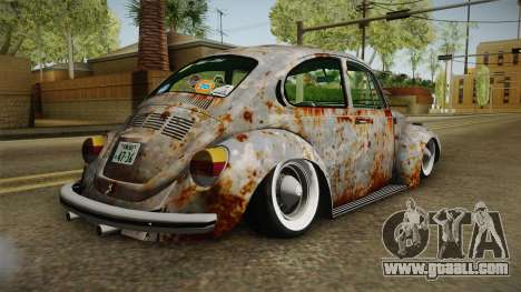 Volkswagen Beetle Rusty for GTA San Andreas