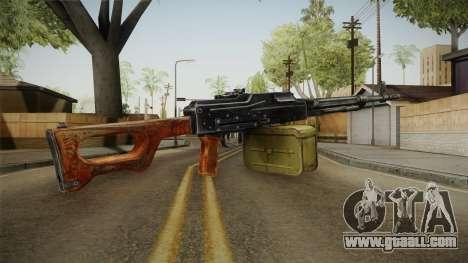 PKM Light Machine Gun for GTA San Andreas second screenshot