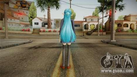 Asuna Yuuki School Uniform v2 for GTA San Andreas third screenshot