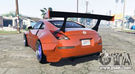 GTA 5 Nissan 350Z (Z33) stardust [add-on] rear left side view