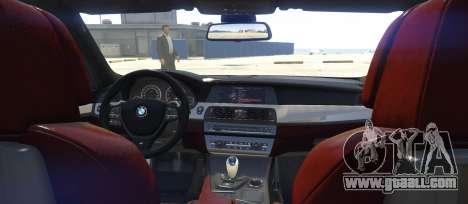 GTA 5 BMW M5 f10 2012 rear left side view