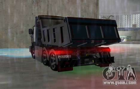 KAMAZ 65115 BLACK NIGHT for GTA Vice City back left view