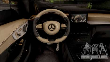 Mercedes-Benz C63S AMG Coupe for GTA San Andreas inner view