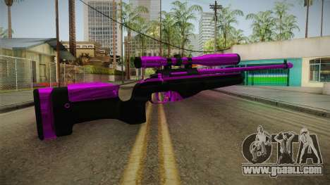 Purple Sniper Rifle for GTA San Andreas second screenshot