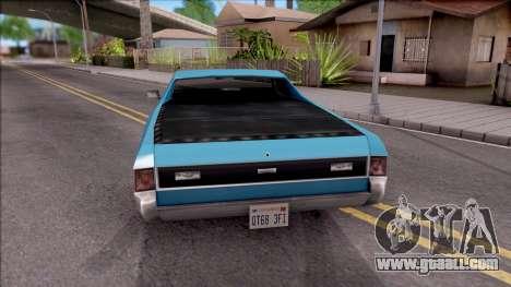 Sabre La Destino Turbo for GTA San Andreas back left view