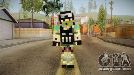 Minecraft Swat Skin for GTA San Andreas second screenshot