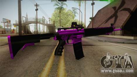 Purple M4A1 for GTA San Andreas third screenshot