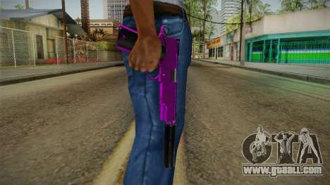 Purple Silenced Pistol for GTA San Andreas third screenshot