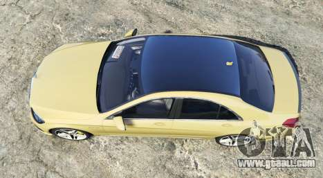GTA 5 Mercedes-Benz S63 yellow brake caliper [replace] back view