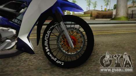 Yamaha 125Z Alloy Black for GTA San Andreas inner view