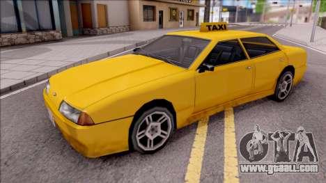 Elegy Taxi Stock for GTA San Andreas
