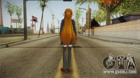 Asuna Yuuki School Uniform v1 for GTA San Andreas third screenshot