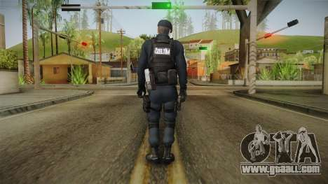 Turkish Police-Rapid Response Unit Member for GTA San Andreas third screenshot