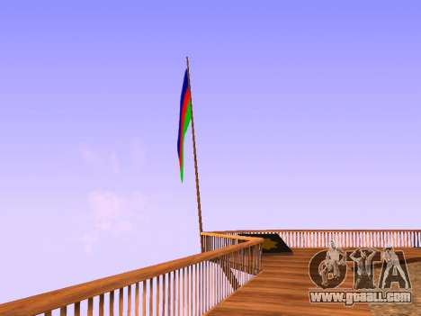 Azerbaijan Flag on Mount Chiliad for GTA San Andreas