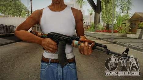 CS: GO AK-47 Jet Set Skin for GTA San Andreas third screenshot