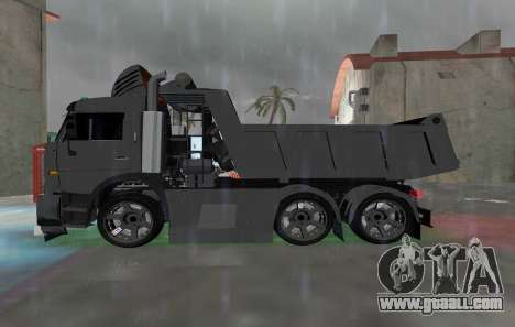 KAMAZ 65115 BLACK NIGHT for GTA Vice City left view