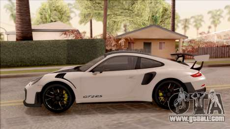 Porsche 911 GT2 RS Weissach Package SA Plate for GTA San Andreas left view