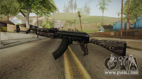 CS: GO AK-47 Black Laminate Skin for GTA San Andreas second screenshot