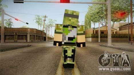 Minecraft Swat Skin for GTA San Andreas third screenshot