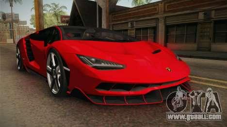 Lamborghini Centenario LP770-4 v2 for GTA San Andreas right view
