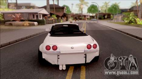 Nissan Skyline R33 Cabrio Tuned for GTA San Andreas back left view